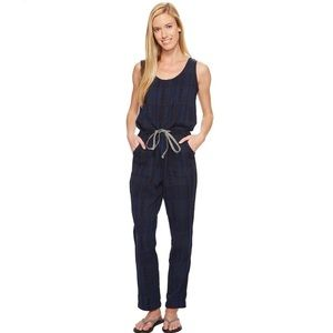 Woolrich Eco Rich Jacquard Jumpsuit in Navy/Black